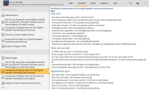 Oxford German Dictionary TR - screenshot thumbnail