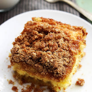 Cake Mix Sour Cream Coffee Cake.