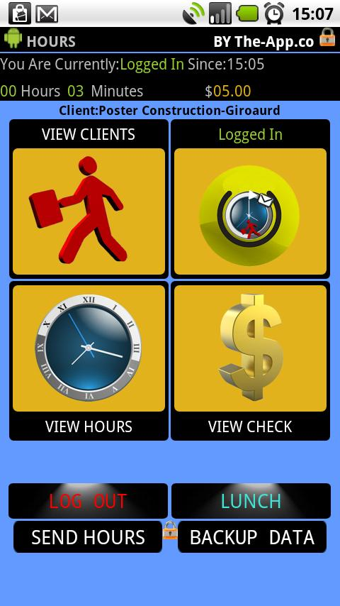 .Hours - Time Clock/Card Pro - screenshot