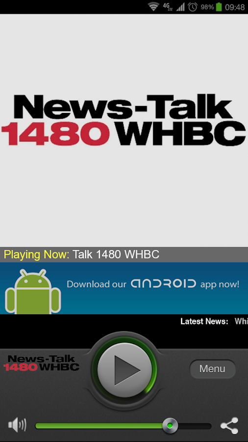 News-Talk 1480 WHBC - screenshot