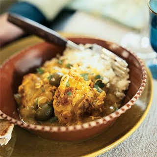 Chicken Tagine with Lemon and Olives.