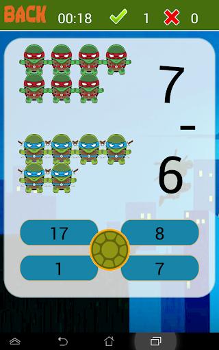 Math Game of Turtles Ninja