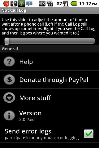 Not Call Log 2 - free (NO ADS)- screenshot