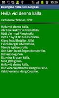 Screenshot of Blekingska Nationens Sångbok