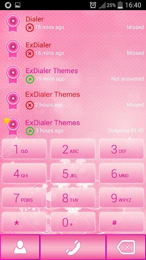 玩免費個人化APP|下載ExDialer粉红圆点 app不用錢|硬是要APP