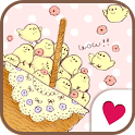 Cute wallpaper★petit chick icon