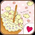 Cute wallpaper★petit chick icon