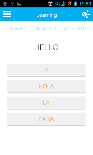Learn Spanish - 10 words a day