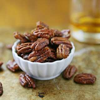 Bourbon and Honey Glazed Pecans