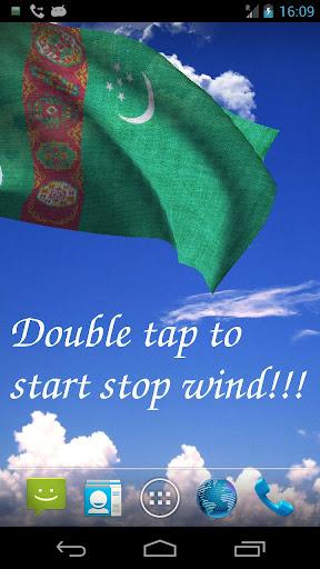 3D Turkmenistan Flag LWP