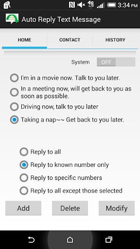 Auto Reply Text Message