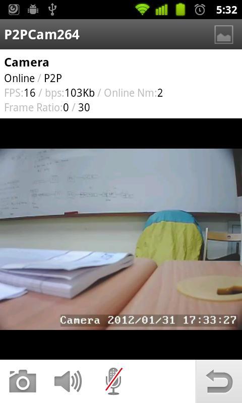 P2PCam264 - screenshot