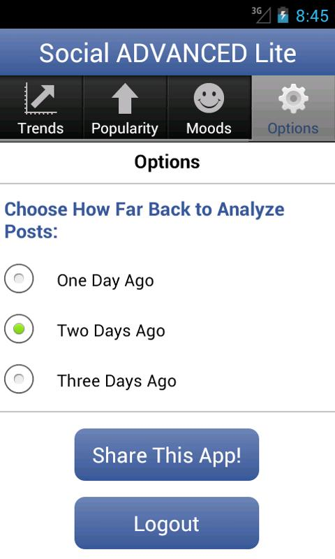 Social Advanced for Facebook - screenshot