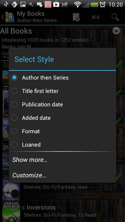 Book Catalogue - screenshot