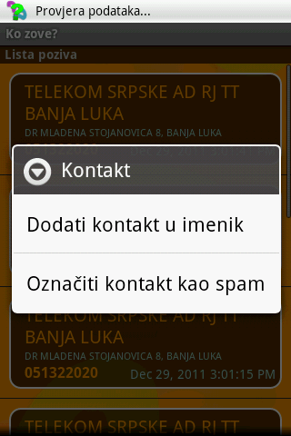 Ko zove?- screenshot