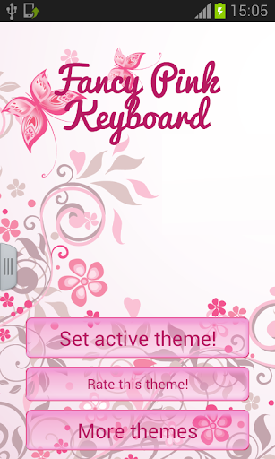 Keyboard Fancy Pink