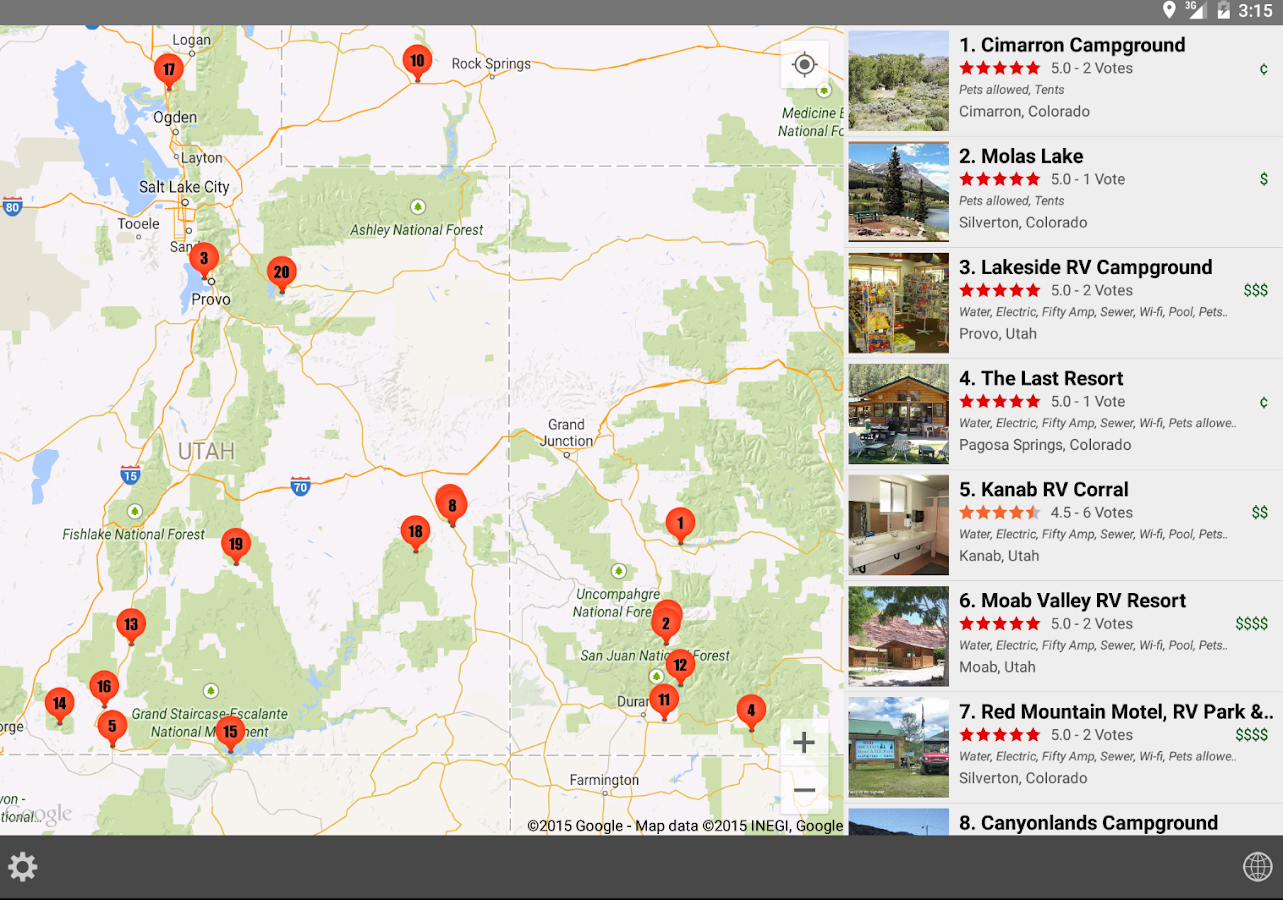 RV Parks Campgrounds Android Apps On Google Play - Us military campgrounds and rv parks map