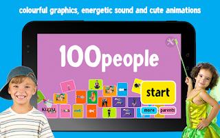 Screenshot of 100 People Words for Babies