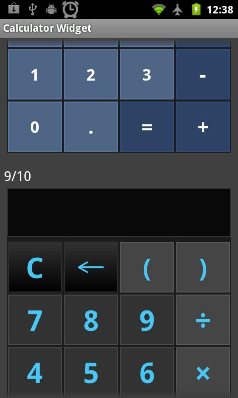 Calculator Widget FREE motifs - screenshot