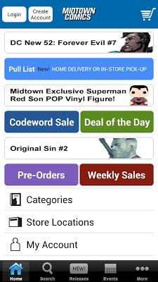 Midtown Comics - screenshot