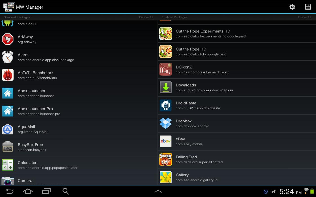 MultiWindow Manager(Note 10.1)- screenshot