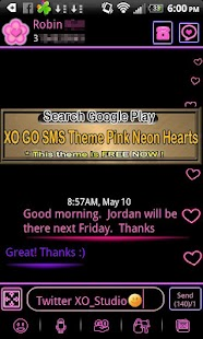 How to install ICS Pink Neon Theme for GO SMS patch 1.0 apk for pc