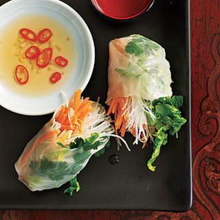 Asian-Style Veggie Rolls.
