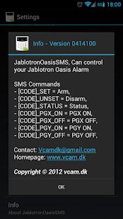 Jablotron Oasis SMS- screenshot thumbnail