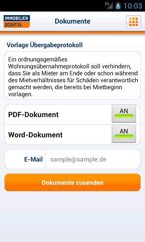 Umzug: Immobilien Scout24 - screenshot