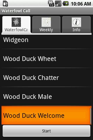 Waterfowl Call- screenshot