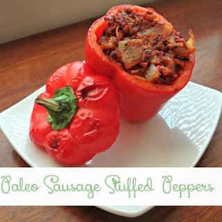 Paleo Sausage Stuffed Pepper.