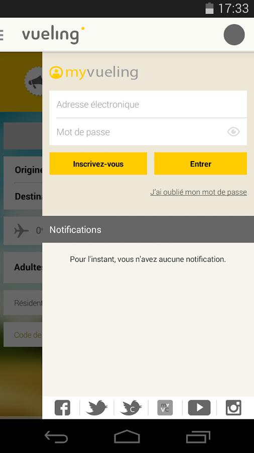 Vueling - Vols pas chers - screenshot