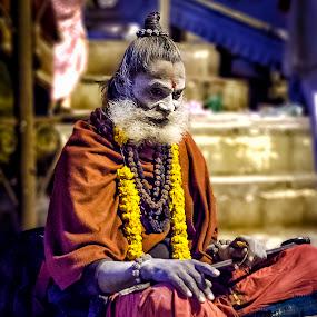 Morning Prayers by Sarthak Bisaria - People Professional People ( hindu, monk, colors, india, varanasi, sadhu, Travel, People, Lifestyle, Culture,  )