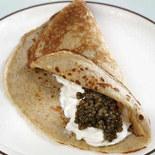Buckwheat Crepe Blinis.