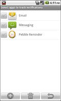 Screenshot of Pebble Notification & Reminder