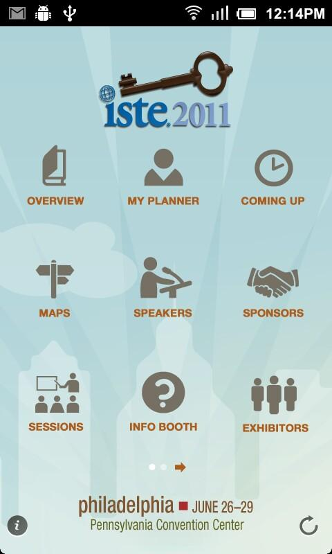 ISTE 2011 Onsite Mobile Guide- screenshot