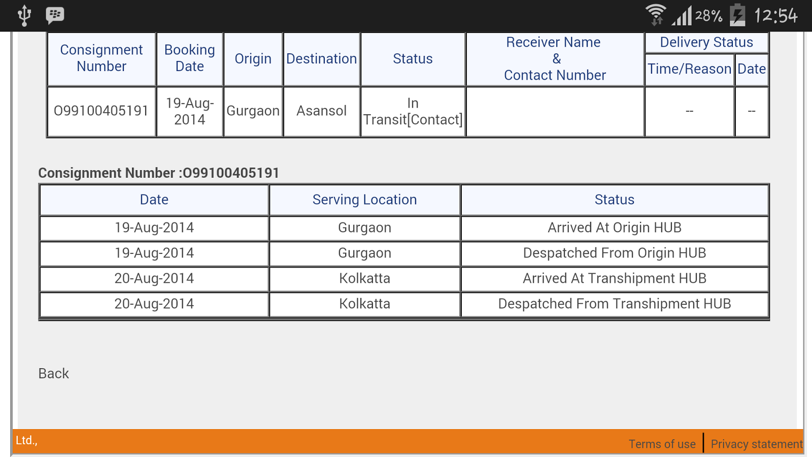 Track My Cou... First Flight Courier Tracking