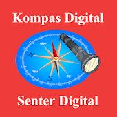 Kompas dan Senter Digital