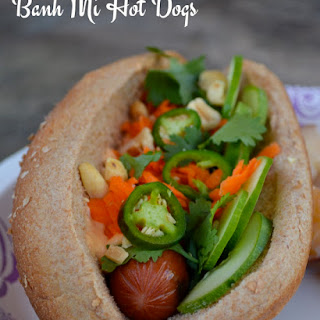 Banh Mi Hot Dogs with Sriracha Mayo