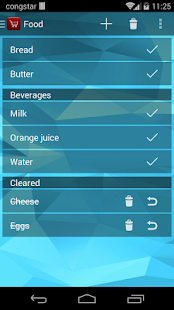 Our shopping list - with sync
