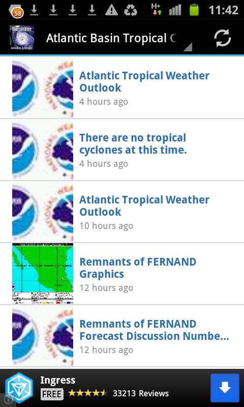 Hurricane Forecaster Advisory - στιγμιότυπο οθόνης