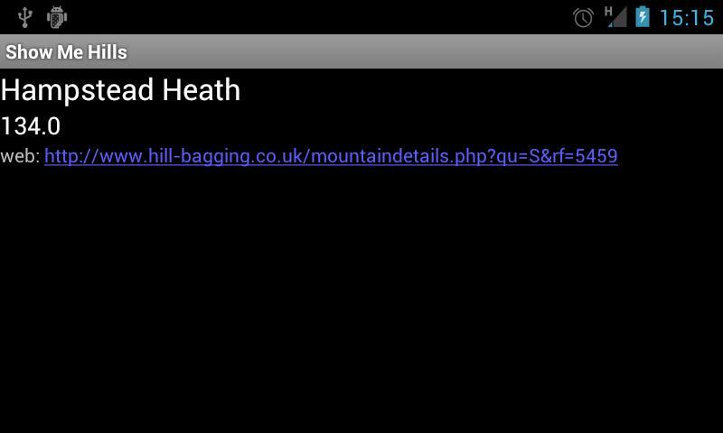 ShowMeHills AR mountain peaks- screenshot