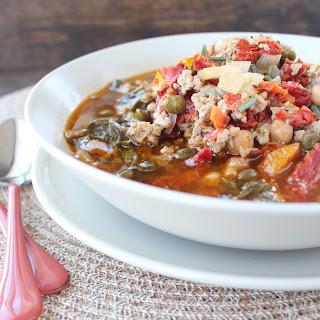 Healthy Greek Turkey Soup