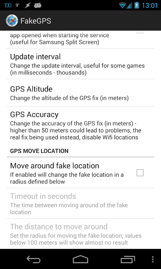 Fake GPS Location Spoofer - screenshot