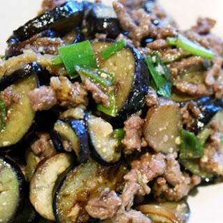 Miso Eggplant with Beef.