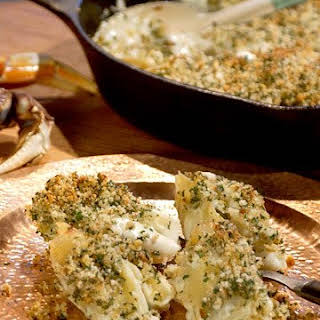 Crab-Stuffed Shells with Peas and Leeks.