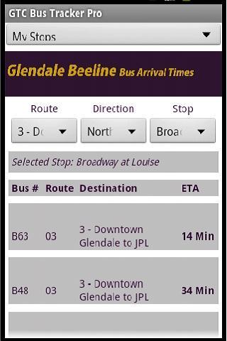 GlenDale Beeline Bus Times Pro- screenshot