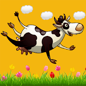 Super Cow gets high and fly