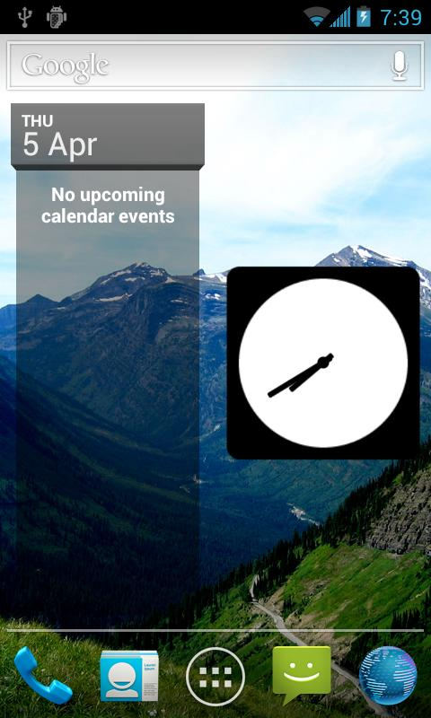 Your Picture Clock Widget- screenshot
