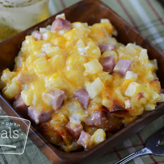 Cheesy Potatoes and Ham.